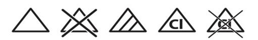 Etiket Yıkama Talimatı Ağartma Sembolleri - Onur Etiket